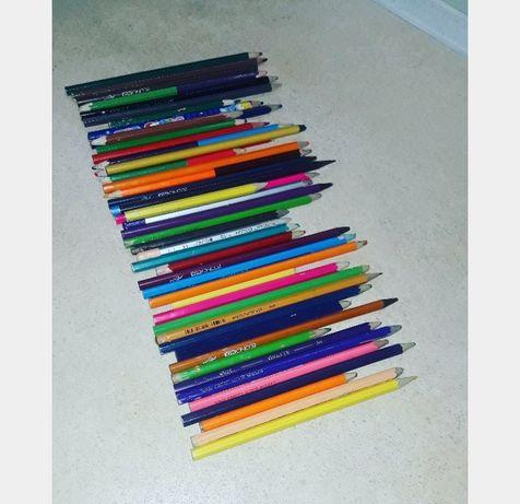Бу карандаши,50 шт-50 грн,цветные карандаши