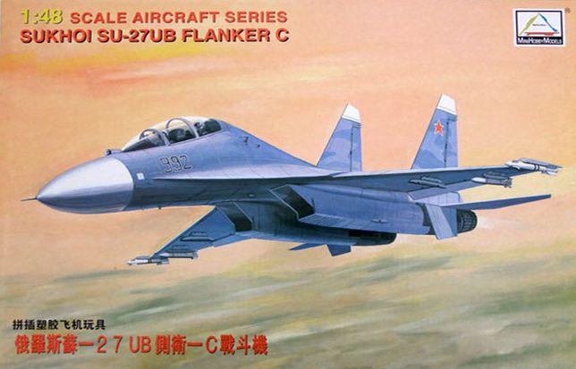 Сборная модель 80301 MiniHobby 1:48 российский истребитель Су-27 Flank