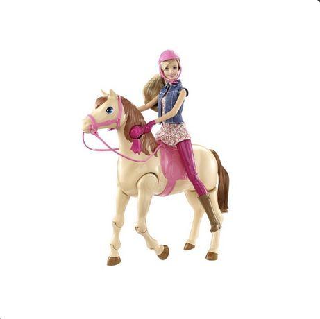 Barbie na jeżdżącym koniu interaktywny