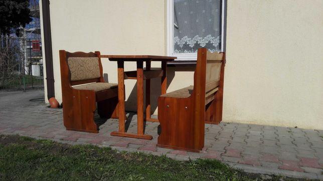Stół z ławami, idealny na działkę