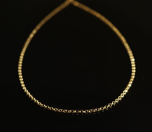 Złoto 585 - złoty łańcuszek splot Rolo drobny