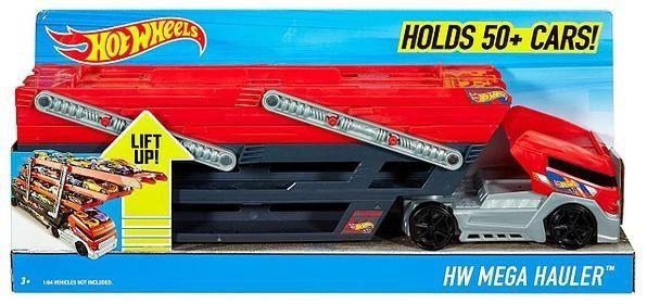Трейлер Автовоз Хот Вилс Hot Wheels Mega Hauler на 50 машинок.