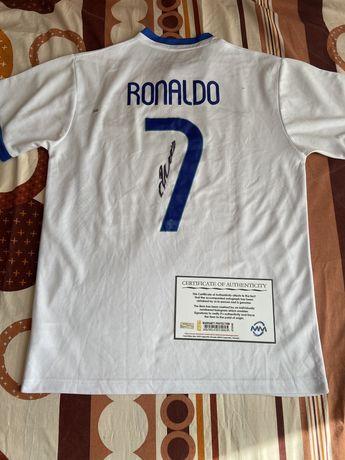 Koszulka Cristiano Ronaldo Portugalia oryginalny autograf Certyfikat