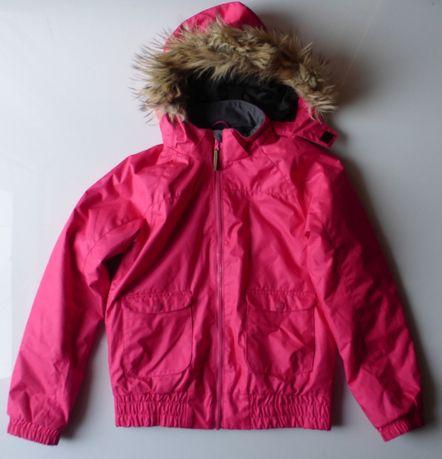 Kurtka zimowa narciarska różowa młodzieżowa H&M 164 dziewczęca futerko