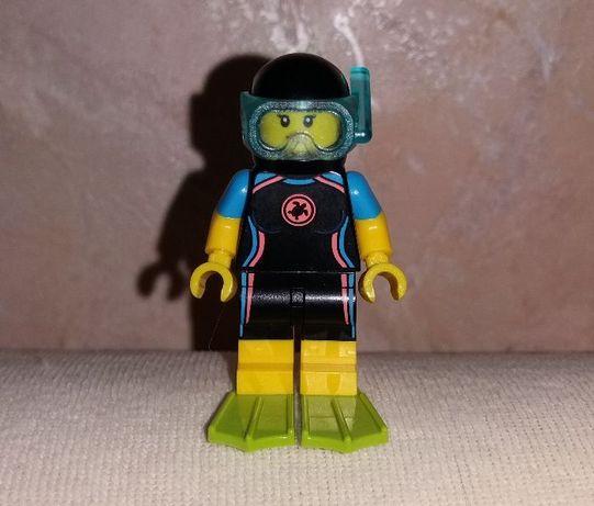 Минифигурка Lego Лего City Сити девочка аквалангист водолаз