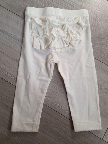 Białe legginsy newbie