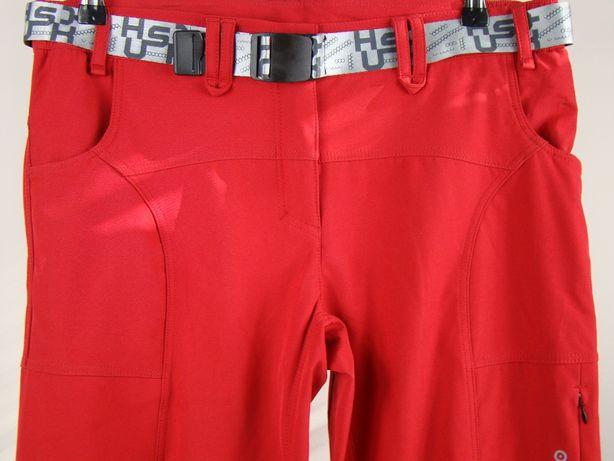 Spodnie trekkingowe damskie softshell Husky membrana L czerwone