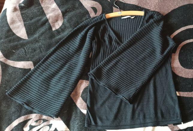 Czarny sweterek Quiosque szerokie rękawy super jakość