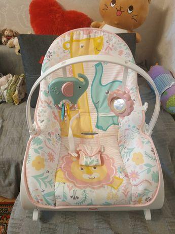 Дитяче крісло-гойдалка (шезлонг) FisherPrice