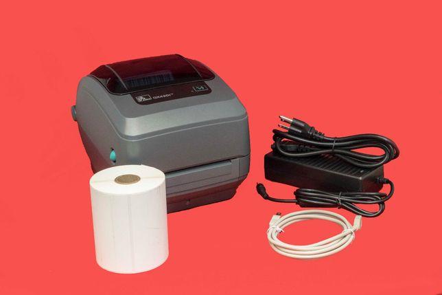 Термотрнасферный принтер этикеток Zebra GX420t (GK/GC420t) Новая Почта