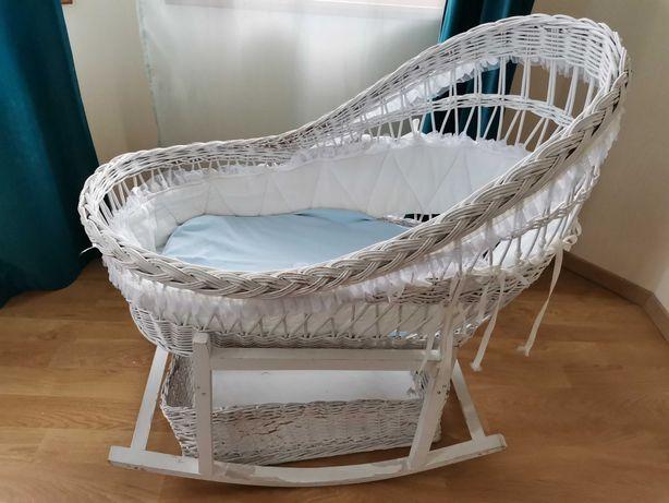 Кроватка детская из натуральной лозы