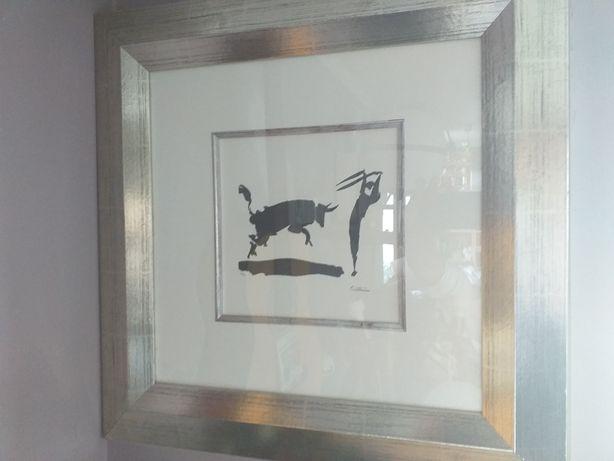 Reprodukcja Pablo Picasso Torreador w srebrnej drewnianej ramie