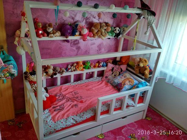 Łóżko domek styl skandynawski z materacem