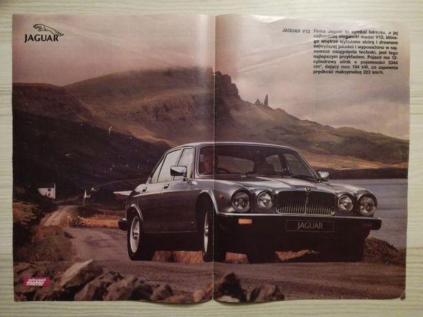 Plakat Poster Jaguar XJ12 MkIII 33,5cm x 47cm Samochody Auto Cars GB