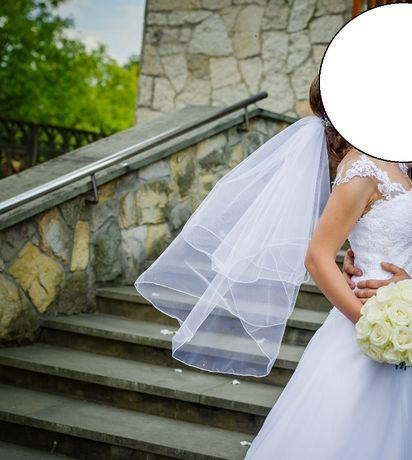 Welon ślubny, biały