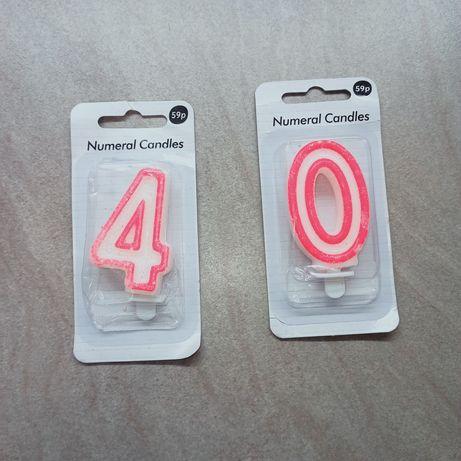 Свеча на день рождения розовая цифра В наличии цифра 0 и 4. Цена указ