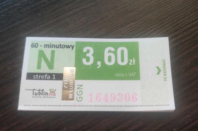 Bilet ZTM Normalny 60-minutowy Strefa 1