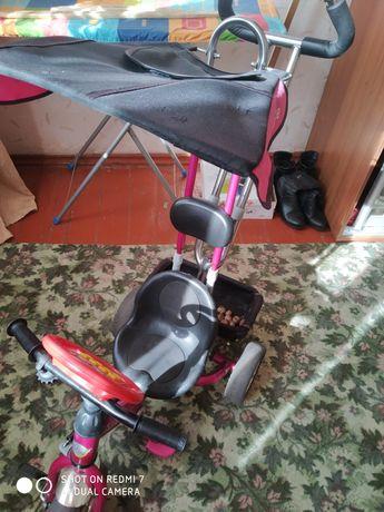 Детский велосипед трёх колёсный с ручкой LEXUS'