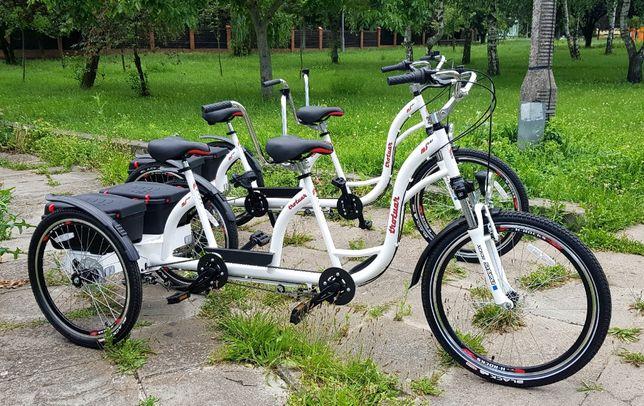 Rower trójkołowy dwuosobowy Tandem Duet producent Polska