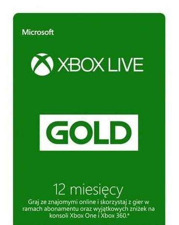 xbox live gold + game pass 3 miesiące +BONUS