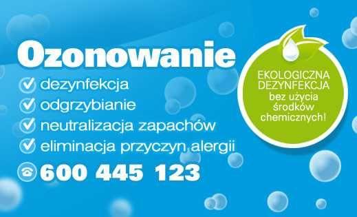 Ozonowanie - Eko dezynfekcja - moc ozonu -min. 60g - max. 220g ozonu!