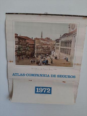 Calendário antigo e raro seguradora Atlas 1972