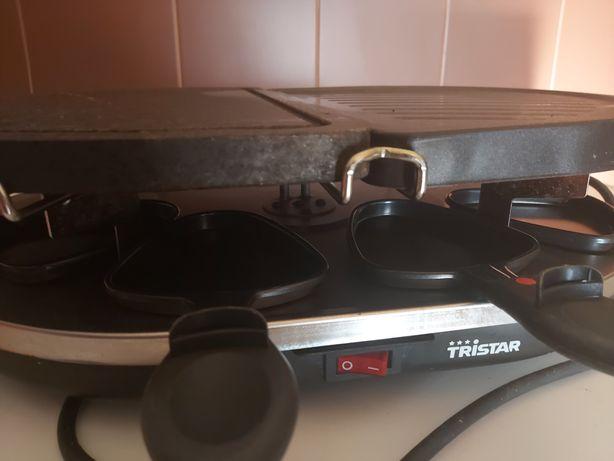 Raclete 2 em 1 com pedra e grelhador