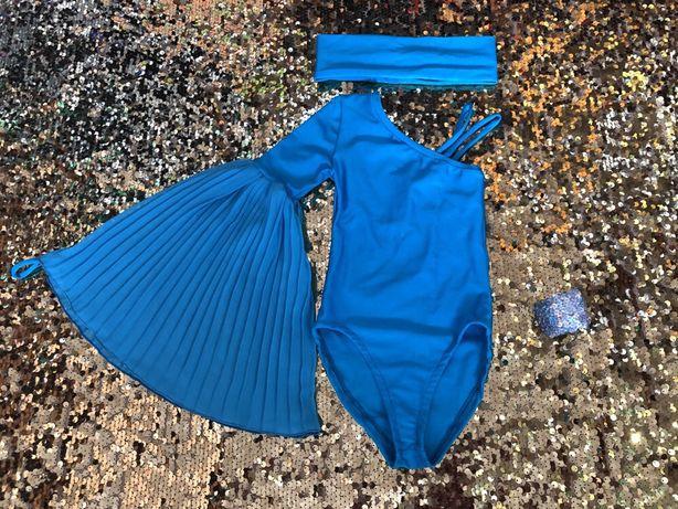 Продам танцевальный костюм(купальник,штаны,накидка,повязка)!р116-128