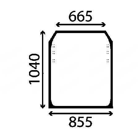 Szyba przednia JCB 528 / 530 / 532 533 ładowarka teleskopowa ACX023
