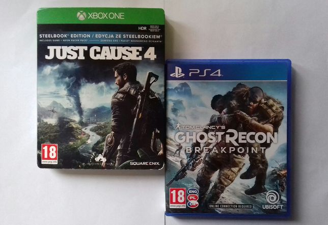 Xbox One Just Cause 4 Ps 4 Ghost Recon Breackpoint