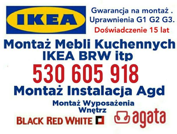 Montaż Składanie Mebli Kuchennych Skręcenie Mebli IKEA BRW AGATA