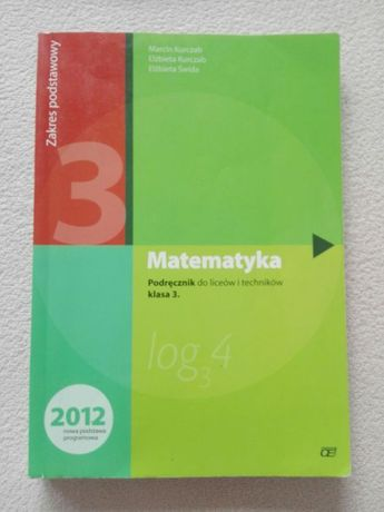 Podręcznik do matematyki. Klasa 3.