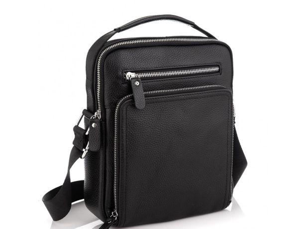 Кожаная мужские сумка-мессенджер из натуральной кожи Vintage