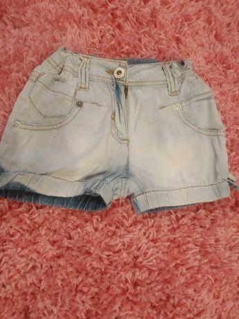 Spodnie krótkie jeansowe dla dziewczynki na lato 98