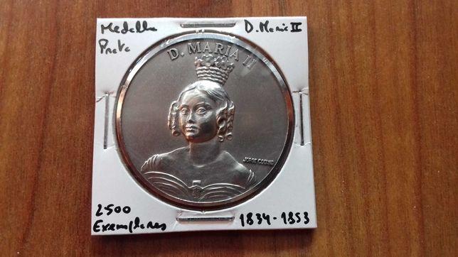 Medalha Prata D. Maria II - 2500 Exemplares