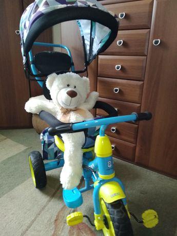 Rowerek trójkołowy z siedzeniem obracanym