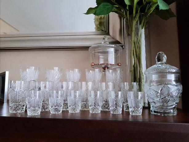 Komplet szkła, do napojów, alkoholu, kawy latte ! szklana bomboniera