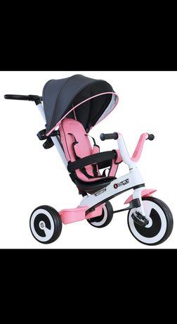 Rowerek 4w1 różowy