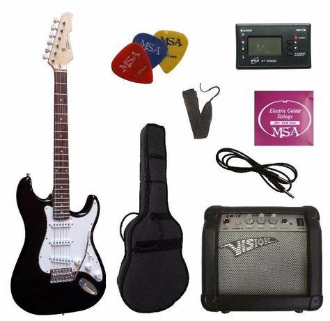 Conjunto 'plus' guitarra elétrica ST5 MSA VISION - NOVO