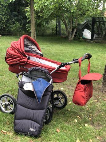 Wózek gondola plus torba i zimowa trumienka
