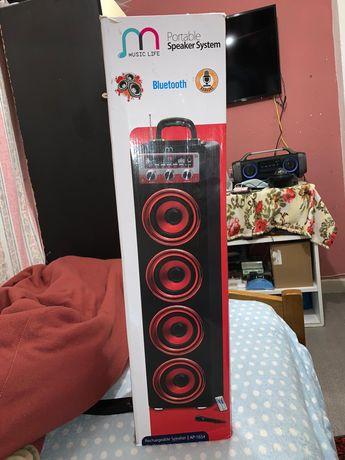 Coluna Bluetooth Karaoke