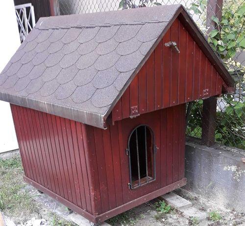 buda dla psa na kółkach, solidnej konstrukcji i ocieplona. Nowa cena.