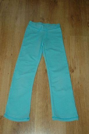 C&A Palomino turkusowe spodnie dresy bawełna rozm. 128