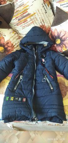 Продам хорошую модную зимнию куртку на девочку.