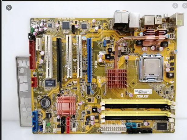 материнская плата Asus P5K процессорный разъем 775+ процессор
