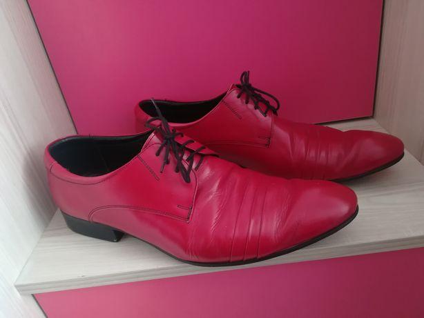 Faber półbuty wizytowe buty czerwone 46 wysyłka gratis