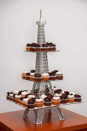 Stojak na muffinki wieża Eiffla