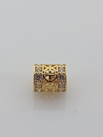 Złoty element charms na bransoletkę Pandora 14k.Nowy (341)