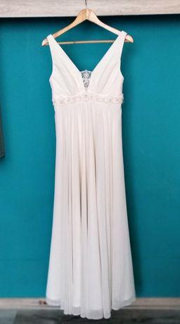 Piękna Kremowa Suknia Ślubna