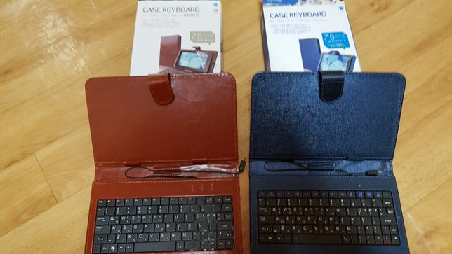 Чехол клавиатура для планшета ( новые)